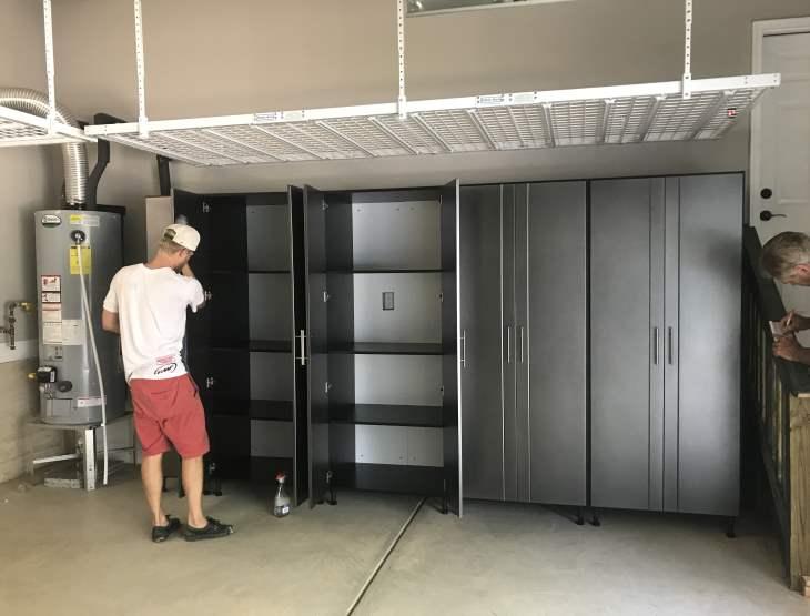 Overhead Garage Storage Racks and Cabinets